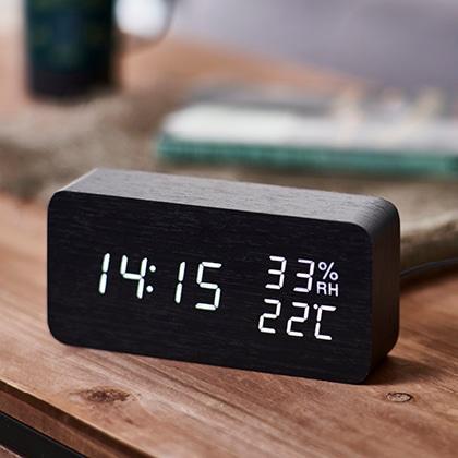 <アイリスオーヤマ>デジタル置時計多機能タイプ(ブラック)