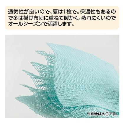 〈クムコ〉三河木綿6重ガーゼケット(ブラウン)