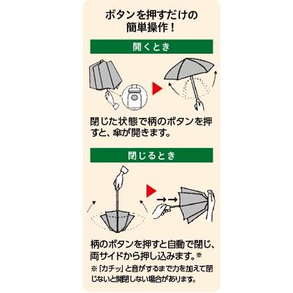 〈mabu×TOKYU HANDS〉ストレングス 自動開閉折傘58cm 晴雨兼用(墨)
