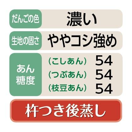 〈丸屋〉童心笹だんご(こしあん8個・つぶあん8個・枝豆あん4個)