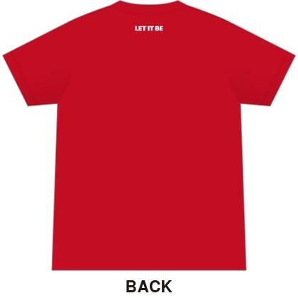 ザ・ビートルズTシャツ カラー レッド サイズL