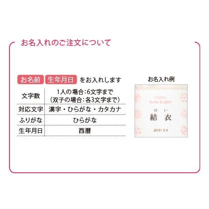 ほっこりティータイムセットB(お名入れ)ピンク【出産内祝い用】
