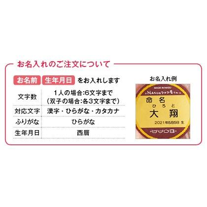 NASUのラスク屋さん ミニプリンケーキ&苺ケーキ&今治タオルB(お名入れ)【出産内祝い用】