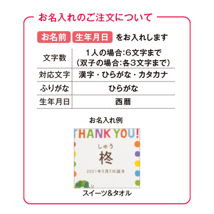 はらぺこあおむし スイーツ8個入&タオル2枚セット(お名入れ)【出産内祝い用】