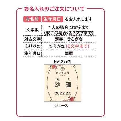 銀座千疋屋 銀座ストレートジュース(お名入れ)【出産祝い用】