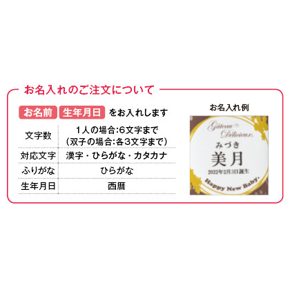 ガトー・デリシュー 焼菓子9個詰合せ(お名入れ)【出産祝い用】