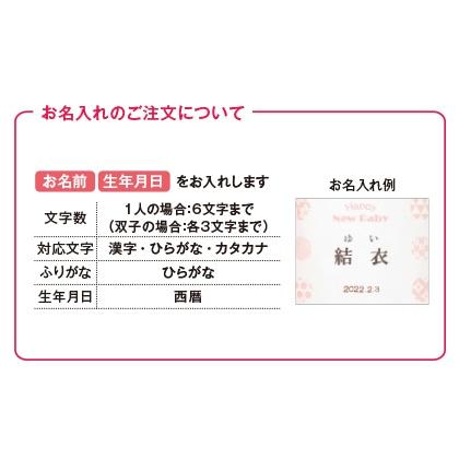 ほっこりティータイムセットB(お名入れ)ピンク【出産祝い用】