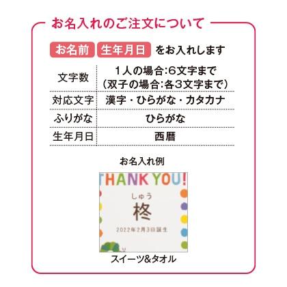 はらぺこあおむし スイーツ8個入&タオル2枚セット(お名入れ)【出産祝い用】