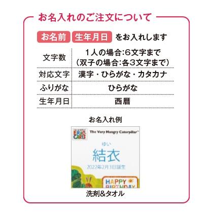 はらぺこあおむし キッチン洗剤タオルセットA(お名入れ)【出産祝い用】