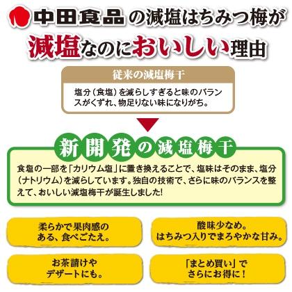 中田食品 減塩はちみつ梅 3箱