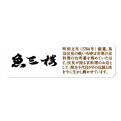 <京・伏見 魚三楼>うなぎ蒲焼