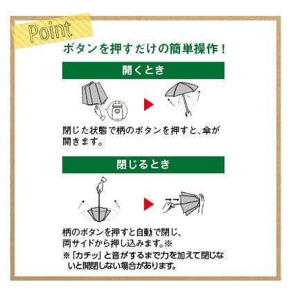 <mabu×東急ハンズ>ストレングス自動開閉折傘 58cm 晴雨兼用(紺)