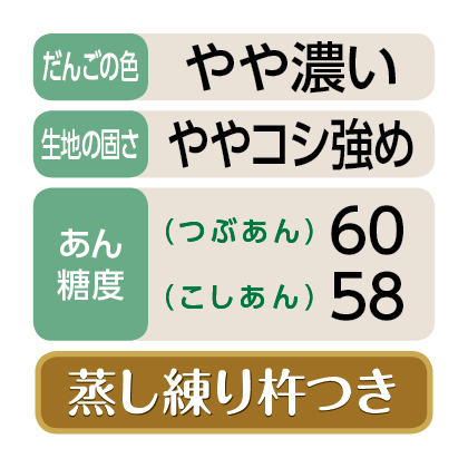 <セイヒョー>笹だんご(つぶあん15個・こしあん10個)
