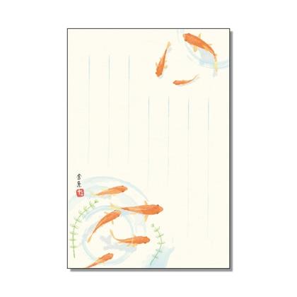 絵入りはがき2021夏柄 金魚4枚セット