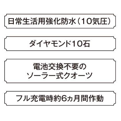 〈セイコー エクセリーヌ〉ダイヤ入ソーラーレディスウォッチ(ホワイト・16.2cm)