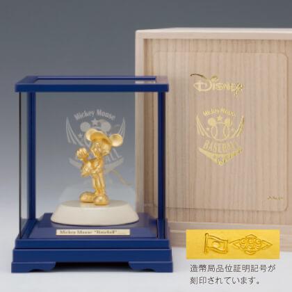 〈ディズニー〉純金ミッキーマウス「野球(ピッチャー)」