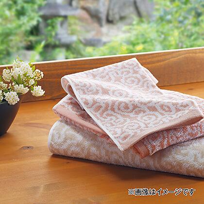 今治謹製 紋織タオル バスタオル(木箱入)S (ベージュ)