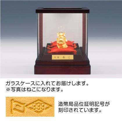 純金製 円満置物 たぬき