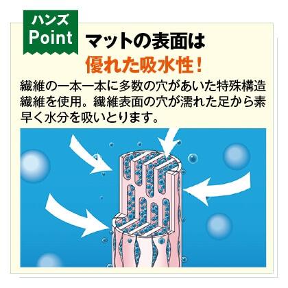 乾度良好サニーバスマット (45×60cm)2枚セット(ベージュ&ピンク)