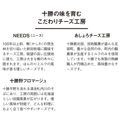 [TOKACHI PRIDE]ラクレットチーズ食べ比べセット(プレート付)