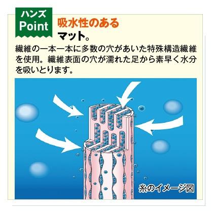 乾度良好サニーバスマット(45×60cm)2枚セット(ベージュ&ピンク)
