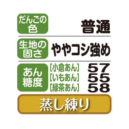 笹だんご(小倉あん・いもあん・緑茶あん)