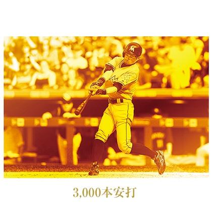 """イチロー引退メモリアル 純金プレート額装セット""""直筆サイン入り"""" MLB3,000本安打 Ver."""