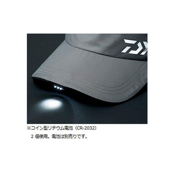 ダイワ LEDライト付きワークキャップ グレー フリー DC-35009 帽子 ハット アウトドア 釣り