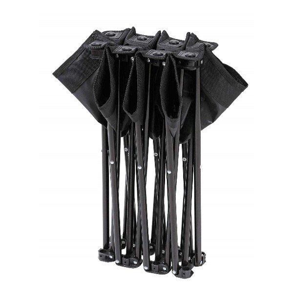 キャプテンスタッグ グラシア コンパクトベンチ 3人掛け (ブラック) UC-1679 チェア ベンチ アウトドア キャンプ 用品 道具