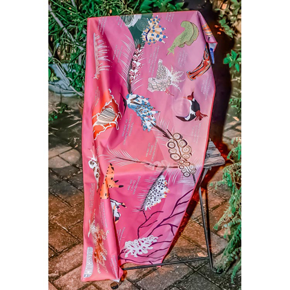 【OCEANARIUM】ドライタオル T06 pink nudibranches identification dry towel 50cm x 120cm
