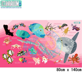 【OCEANARIUM】ドライタオル T11 Pink Mola & Reef fish identification dry towel 80cm x 140cm