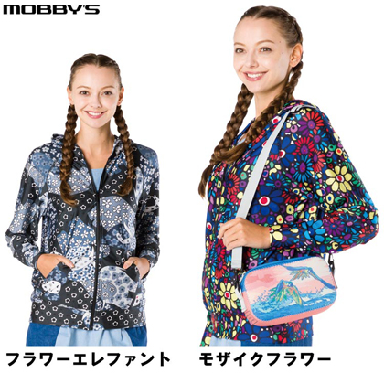 【MOBBY'S】Bohemians UV CUT PARKA ボヘミアンズ UV カットパーカー BH-1050 モザイクフラワー
