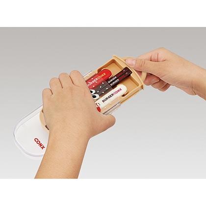 抗菌食洗機対応スライド式トリオセット バーガーコンクス(ミックス)