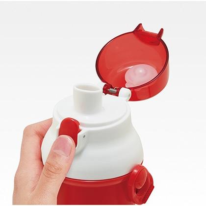 抗菌食洗機対応直飲プラワンタッチボトル ハローキティ おしゃれガール
