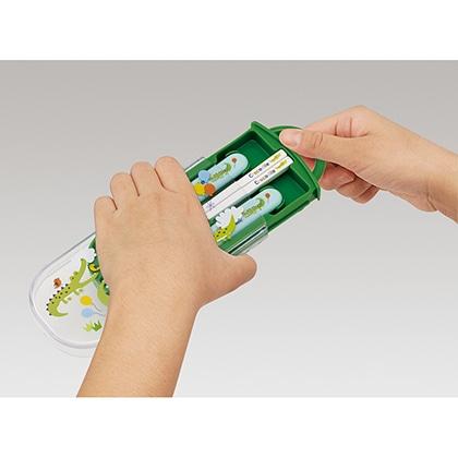 抗菌食洗機対応スライド式トリオセット クロコダイル