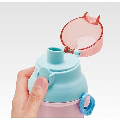 抗菌食洗機対応直飲プラワンタッチボトル すみっコぐらし かわうそとすみっコキャンプ