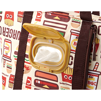 ウェットティッシュポケット付ランチバッグ バーガーコンクス(ミックス) KCLBP1