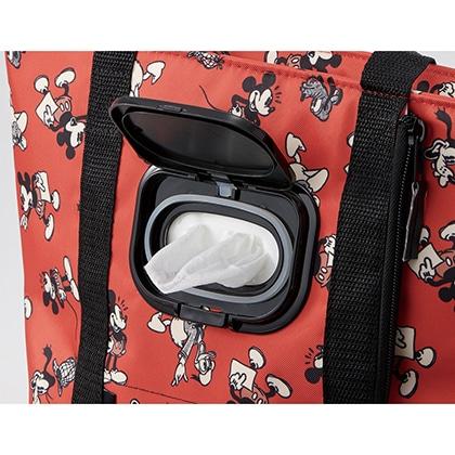 ウェットティッシュポケット付ランチバッグ ミッキーマウス KCLBP1