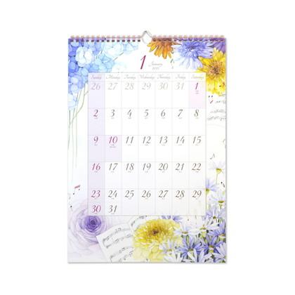 CAL−055  2022年版カレンダー モダンフラワー L