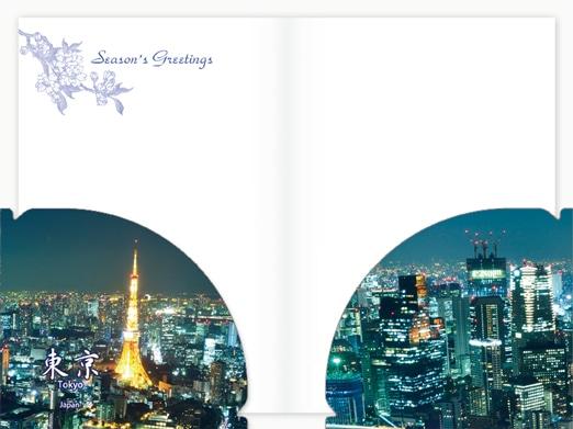 JXCD−092クリアフォルダカード 東京夜景
