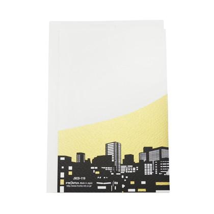 JXCD−119シルク印刷クリスマスカード 東京富士山と初日の出