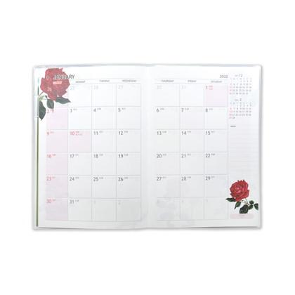 DY−038  2022年版手帳 クラシックローズ ホワイト A6