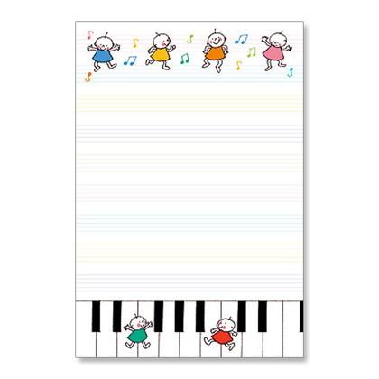 HGS−203はがき箋 Quu ピアノ