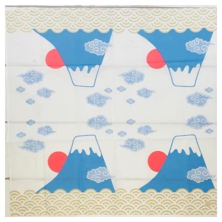 HKC−004木綿はんかち 四小間富士山