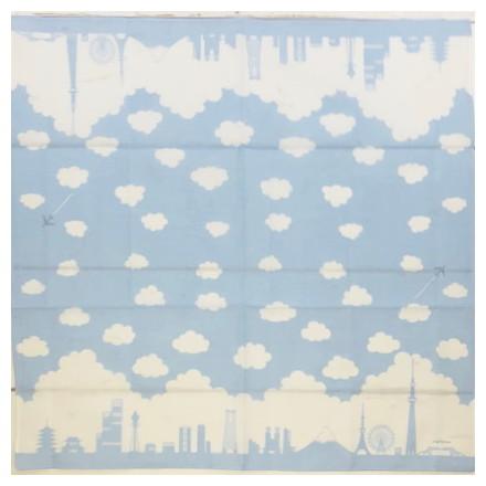 HKC−007木綿はんかち 日本シルエット