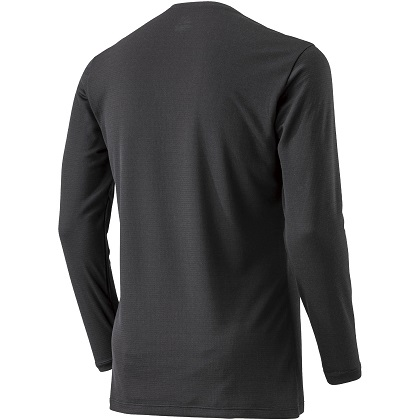ブレスサーモアンダーウェア    Vネック長袖シャツ [メンズ] ブラック ・ S