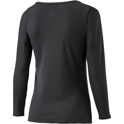 ブレスサーモアンダーウェア  ラウンドネック長袖シャツ [レディース] ブラック ・ S