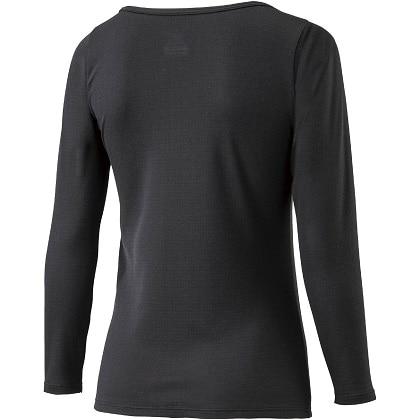ブレスサーモアンダーウェア  ラウンドネック長袖シャツ [レディース] ブラック ・ LL
