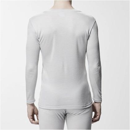ブレスサーモアンダーウェアプラス    Vネック長袖シャツ [メンズ] ペイパーシルバー・ L