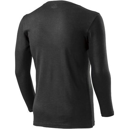 ブレスサーモアンダーウェアプラス    Vネック長袖シャツ [メンズ] ブラック ・ M
